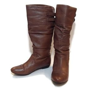 Steve Madden Brown Leather Kadey Riding Boots